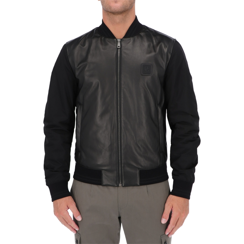 DOLCE & GABBANA LAMBSKIN AND NYLON JACKET