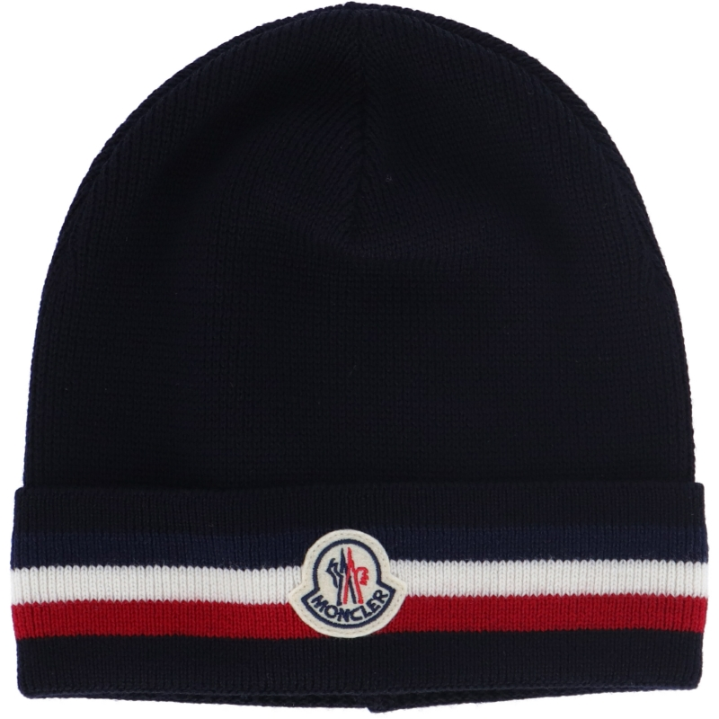 MONCLER PURE WOOL KNIT BEANIE