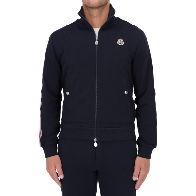 MONCLER TRICOLOUR REFECTIVE RIBBON TRACK JACKET