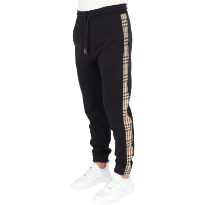 BURBBERRY VINTAGE CHECK PANEL COTTON TRACKPANTS