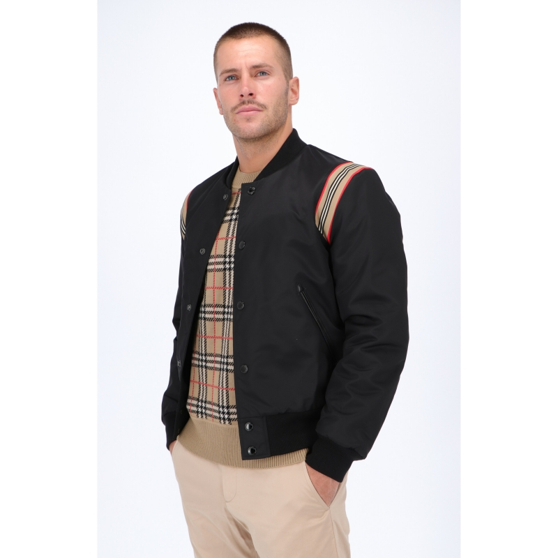 BOMBER IN TWILL CON ICONICO MOTIVO A RICHE BURBERRY