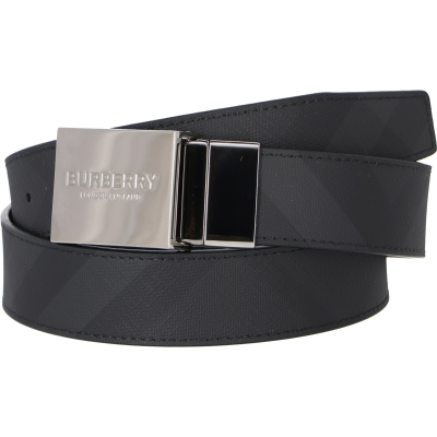 BURBERRY REVERSIBLE PLAQUE BUCKLE LONDON CHECK BELT