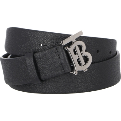 BURBERRY MONOGRAM MOTIF GRAINY LEATHER BELT