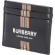 BURBERRY LOGO AND ICON STRIPE PRINT COATED CANVAS CARDCASE