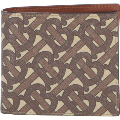 BURBERRY MONOGRAM E-CANVAS INTERNATIONAL BIFOLD COIN WALLET
