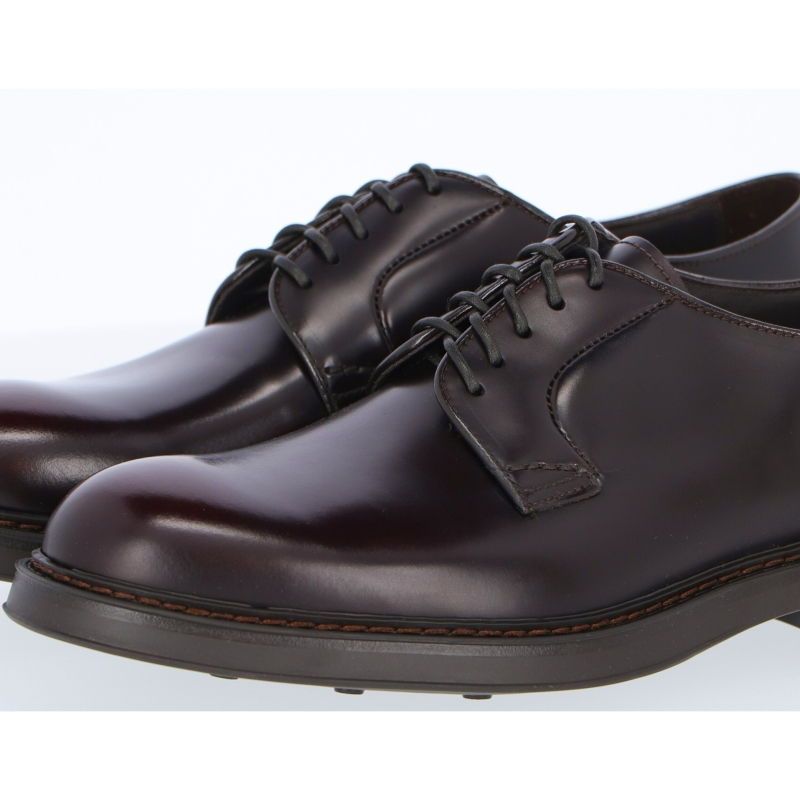 DOUCAL'S CALFSKIN LEATHER FIVE-HOLE DERBY