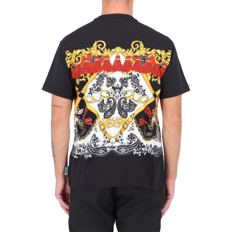 T-SHIRT CON LOGO E STAMPA PASLEY VERSACE JEANS COUTURE