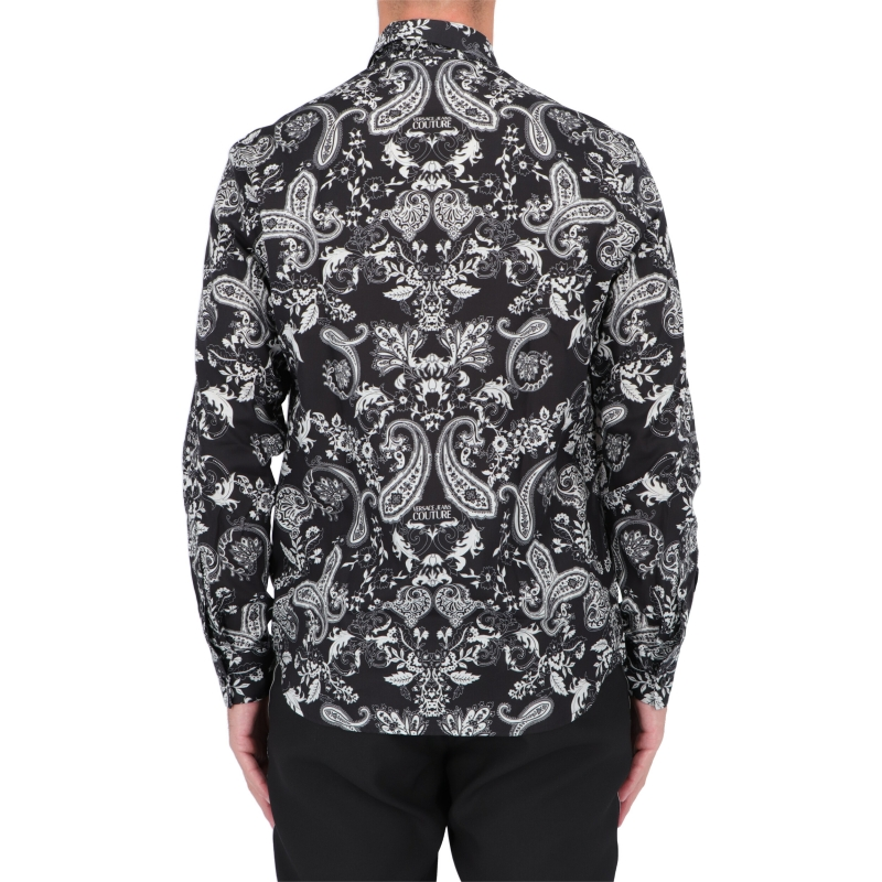 CAMICIA IN TWILL CON STAMPA PAISLEY LOOP VERSACE JEANS COUTURE