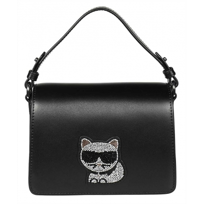 KARL LAGERFELD K/IKONIK CHOUPETTE SMALL LEATHER BAG