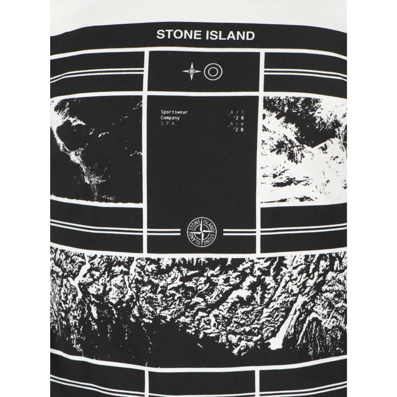 T-SHIRT A MANICHE CORTE MURAL PART 2 STONE ISLAND