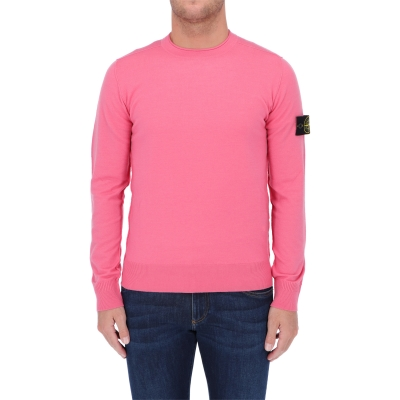 STONE ISLAND CREWNECK KNIT IN STRECH WOOL