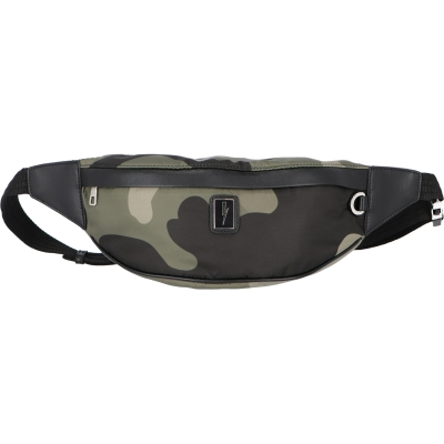 NEIL BARRETT CAMO PRINT ECO LEATHER AND NYLON BELT BAG