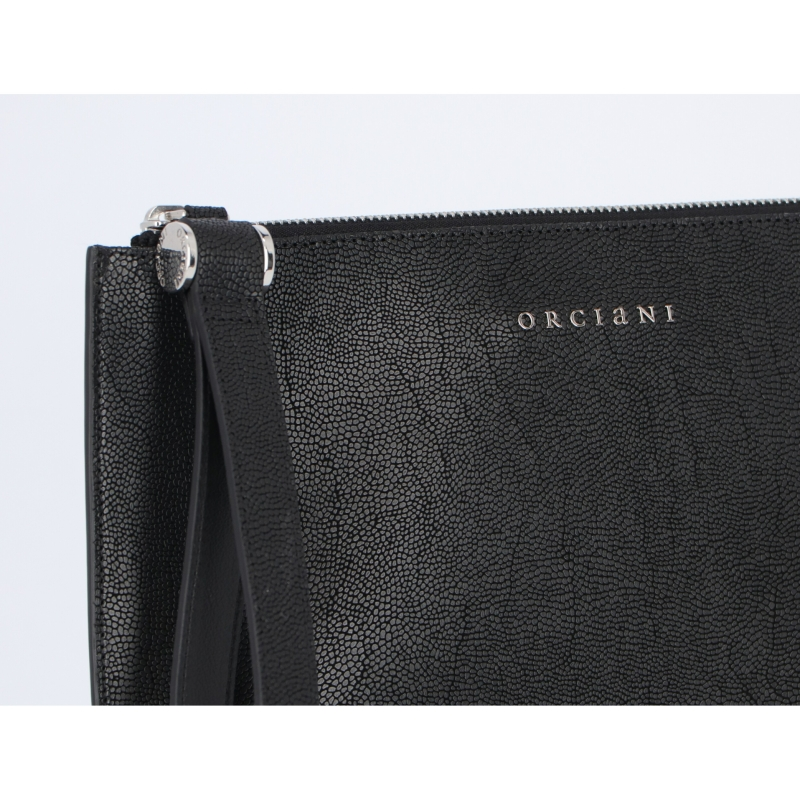 OCIANI LOGO-EMBELLISHED CLUTCH BAG