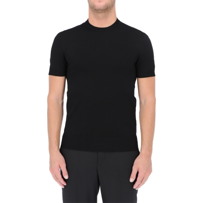 NEIL BARRETT TRAVEL TECHNO KNIT T-SHIRT
