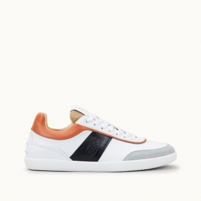 TOD'S MULTICOLOR CALFSKIN SNEAKERS WITH PRINTED LOGO