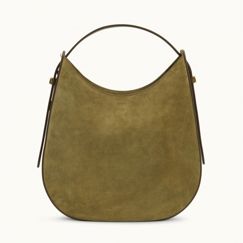 TOD'S OBOE SUEDE LEATHER BAG