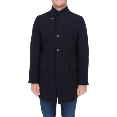 FAY DYED WOOL KNIT UNLINED COAT