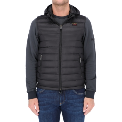 GILET IN PIUMINO ULTRALEGGERO CON CAPPUCCIO STACCABILE  PAUL & SHARK