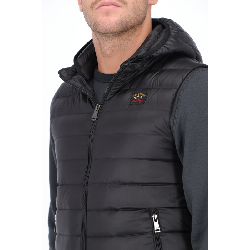 PAUL & SHARK ULTRALIGHT DOWN VEST WITH DETACHABLE HOOD