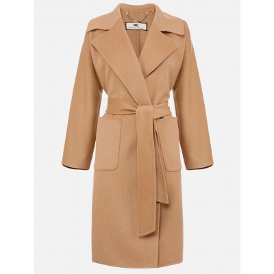 ELISABETTA FRANCHI OVERSIZE COAT WITH REVERS
