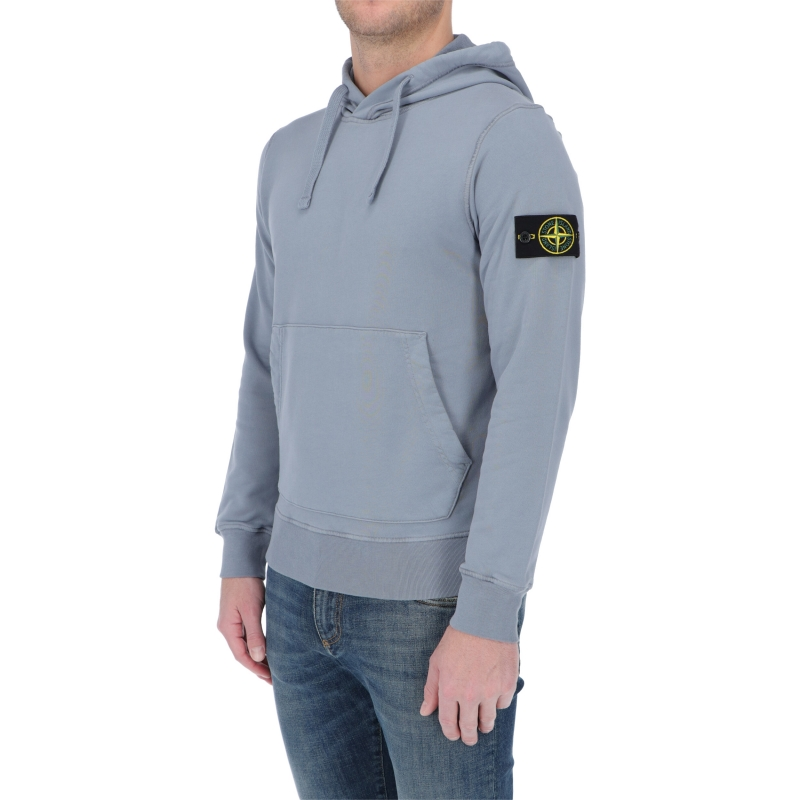 STONE ISLAND COTTON HOODED SWEATSHIRT