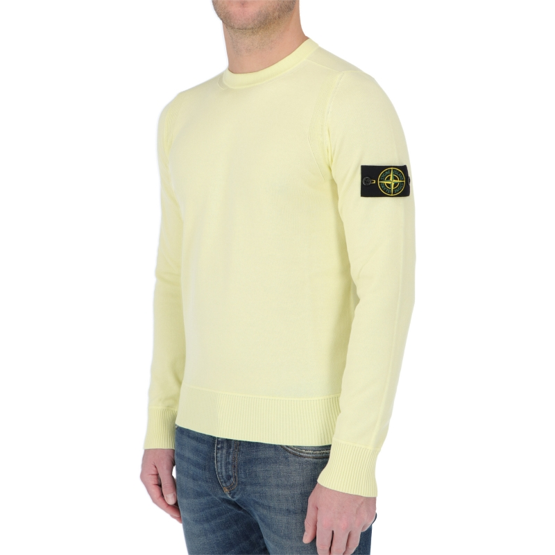 STONE ISLAND KNIT CREWNECK IN SOFT COTTON