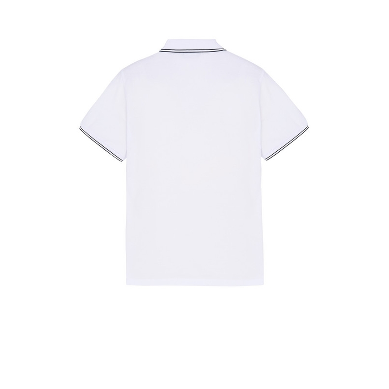 STONE ISLAND SHORT SLEEVE POLO SHIRT IN STRECH PIQUÉ