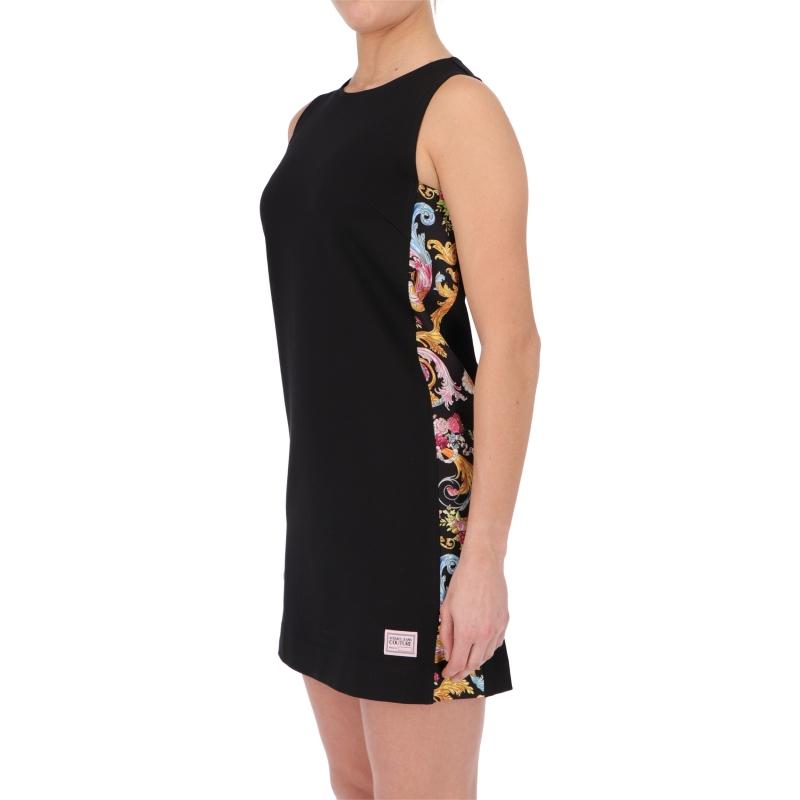 BAROQUE PRINTED STRETCH JERSEY DRESS