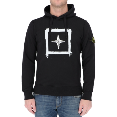 STONE ISLAND HOODED SWEATSHIRT IN COTTON FLEECE