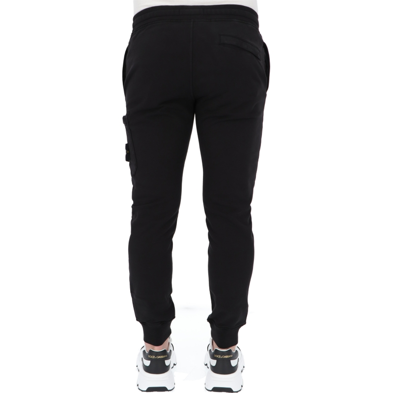 STONE ISLAND COTTON FLECE JOGGER PANTS