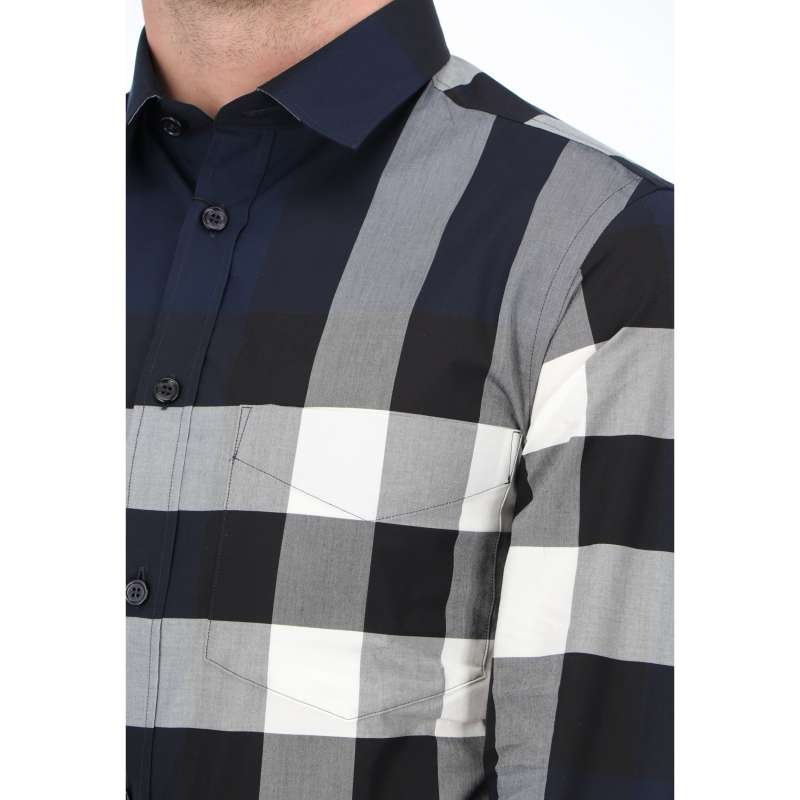 BURBERRY SOMERTON STRECH POPLIN COTTON SHIRT