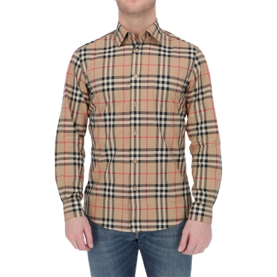 BURBERRY CHECK COTTON POPLIN CAXTON SHIRT