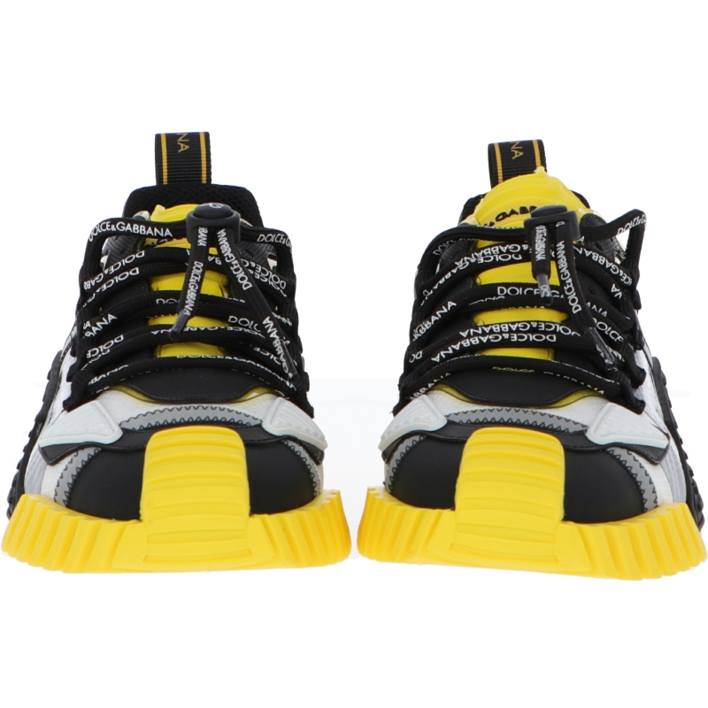 DOLCE & GABBANA MIXED MATERIAL NS1 SNEAKERS