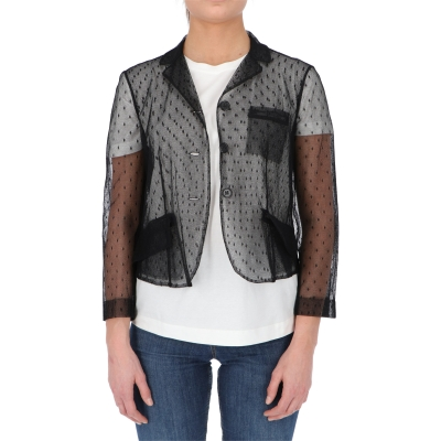 BLACK POINT D'ESPRIT BLAZER JACKET