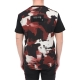 DOLCE & GABBANA TWO-TONE COTTON T-SHIRT WITH PATCH