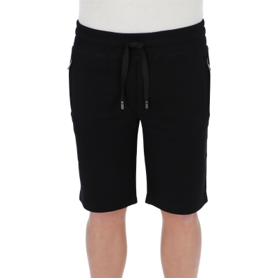 DOLCE & GABBANA JERSEY BERMUDA JOGGING WITH SMALL LOGOED PLAQUE