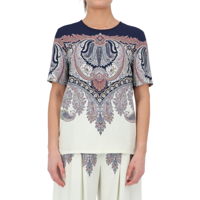 PLACED PAISLEY PRINTED TOP
