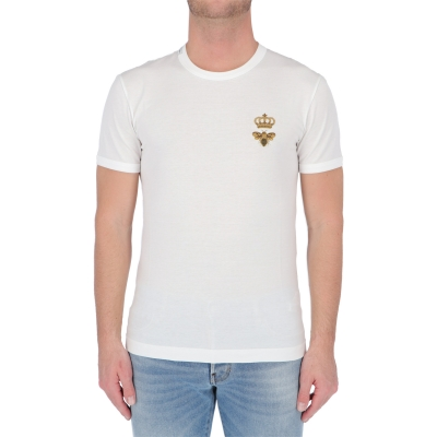T-SHIRT GIROCOLLO IN COTTONE DOLCE & GABBANA