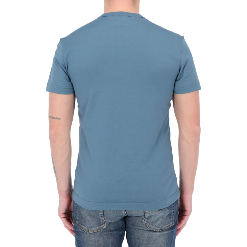 DOLCE & GABBANA COTTON T-SHIRT WITH RUBBERIZED DG PATCH