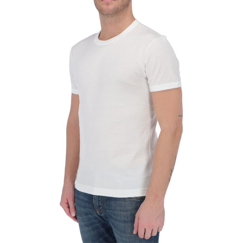 DOLCE & GABBANA COTTON T-SHIRT WITH EMBROIDED LOGO