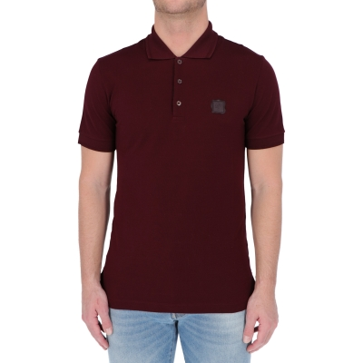 DOLCE & GABBANA COTTON PICHÉ POLO SHIRT WITH LOGO PATCH