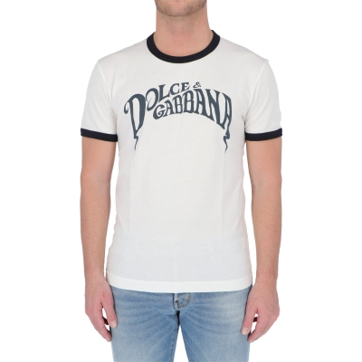 DOLCE & GABBANA COTTON T-SHIRT WITH LOGO
