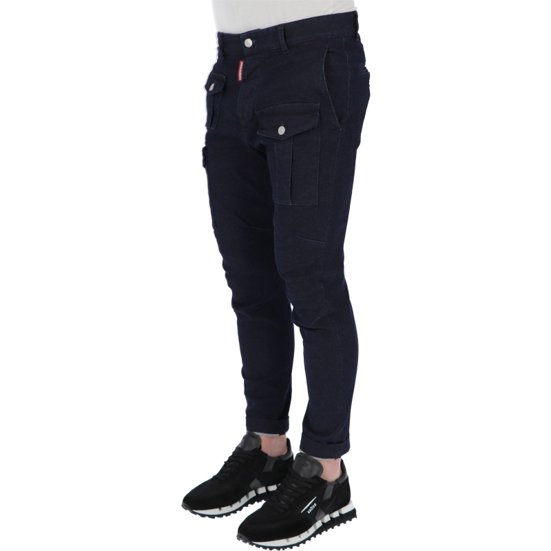 DSQUARED2 SEXY CARGO DENIM TROUSERS