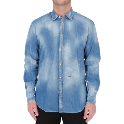 CAMICIA MEDIUM WASH RELAXED DAN DSQUARED2