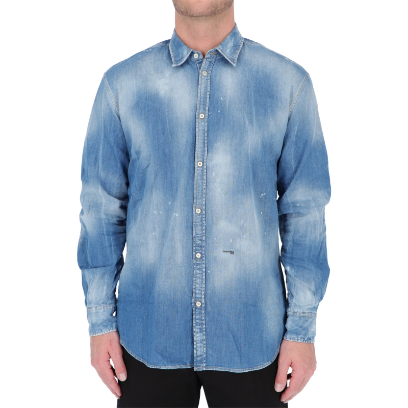 DSQUARED2 MEDIUM WASH RELAXED DAN SHIRT