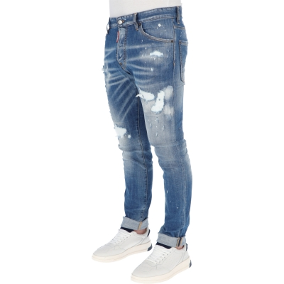 DSQUARED2 RIPPED WHITE SPOTS WASH COOL GUY JEANS