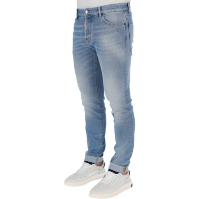 DSQUARED2 LIGHT AND CLEAN WASH SLIM JEANS