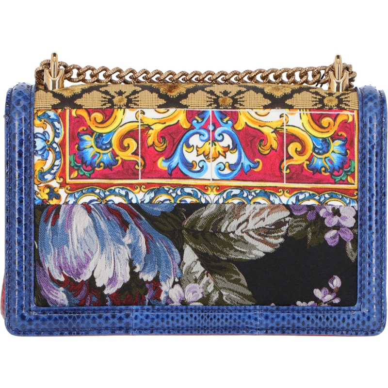 PATCHWORK FABRIC AND PYTHON LEATHER DEVOTION BAG