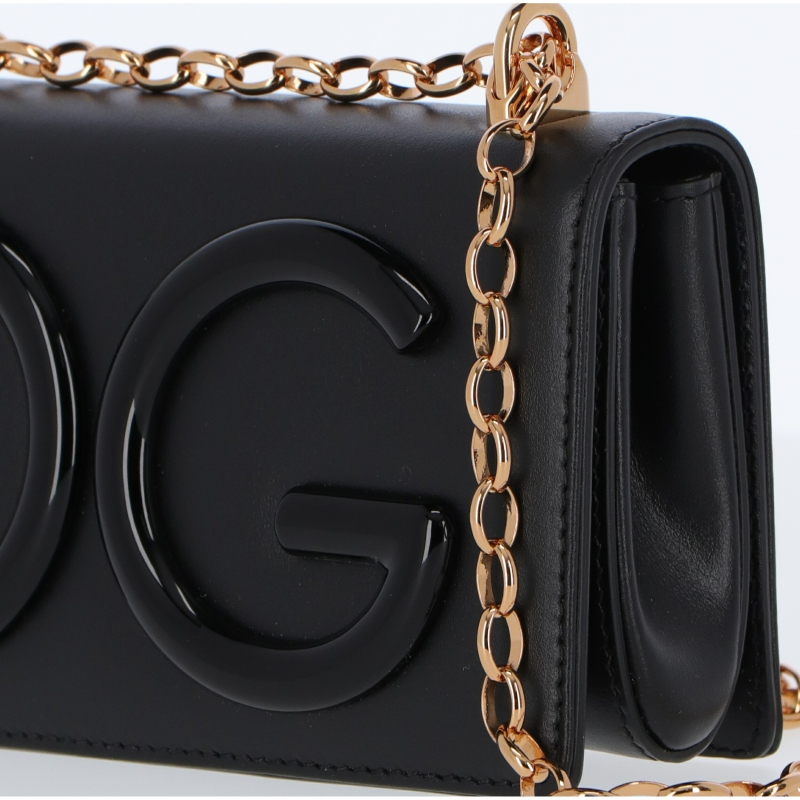 LEATHER PHONE BAG WITH DG GIRLS LOGO