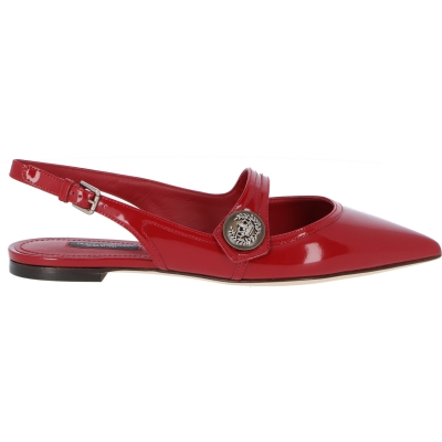 CALFSKIN LEATHER BELLUCCI BALLERINA WITH MAXI DECORATIVE BUTTONS